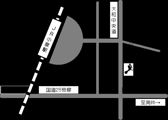 大床義肢の地図